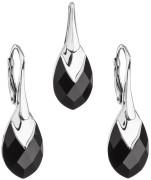 Súprava strieborných šperkov Swarovski elements 39169.4 Black