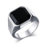 Oceľový pečatný prsteň pre mužov JCFRC207