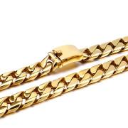 Zlatý oceľový reťaz na krk WJ156