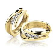 Zlaté naušnice so zirkónmi Cutie Jewellery Z6433Z