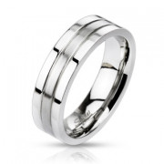 Oceľový prsteň Spikes 0023