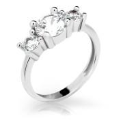 Strieborný zásnubný prsteň  2328