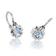 Detské náušnice Cutie Jewellery C2178B Arctic Blue Biele zlato 585/000