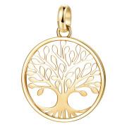 Zlatý oceľový prívesok na retiazku Brosway Tres Jolie BTJM291 - Strom života