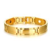 Oceľový náramok pre mužov zlatý 096GD