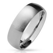 Oceľový snubný prsteň 027-S