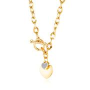 Zlatý náhrdelník z chirurgickej ocele SEGX1623GD