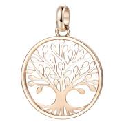 Zlatý oceľový prívesok na retiazku Brosway Tres Jolie BTJM292 - Strom života