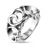 Oceľový prsteň Spikes 4386