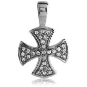 Ocelový přívěsek maltézský kříž 131