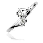 Strieborný prsteň na nohu 017