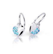 Zlaté detské náušnice Cutie Jewellery C2160B-Arctic Blue