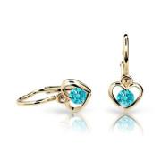 Zlaté detské naušnice Cutie Jewellery C1943Z-Mint Green