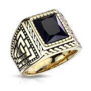 Oceľový pečatný prsteň pre mužov 7159