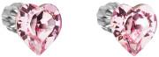 Strieborné náušnice Swarovski elements 31139.3 Ružová