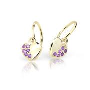 Zlaté detské náušnice Cutie Jewellery C2160Z-Ametyst
