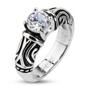 Oceľový prsteň Spikes 2245