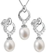 Súprava perlových strieborných šperkov 29015.1