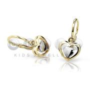 Detské náušnice Cutie Jewellery C1604ZB Žlte zlato 585/000
