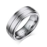 Klasický titánový prsteň pre mužov JCFTR012S