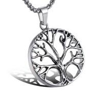 Náhrdelník z chirurgickej ocele strom života WJHC59