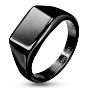 Pánsky oceľový pečatný prsteň 7685K