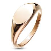 Zlatý pečatný prsteň pre ženy chirurgická oceľ SERM7688RD