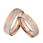 Oceľové snubné prstienky kombinovane SPPL030