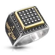 Oceľový prsteň pre mužov 7360