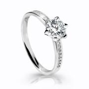 Zásnubný prsteň biele zlato Z6149W