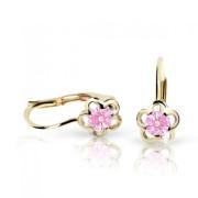 Zlaté detské náušnice Cutie Jewellery C1945Z-KL Pink
