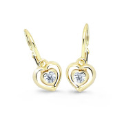Detské zlate naušnice Cutie Jewellery C2752Z -White