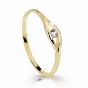 Zlatý prstienok s kamienkom Z6108Y