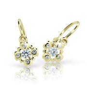 Detské naušnice zlaté Cutie Jewellerys C2253Z White