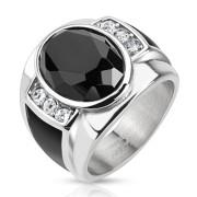 Oceľový prsteň pre muže 5590