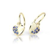 Zlaté detské náušnice Cutie Jewellery C2160Z-Blue Dark
