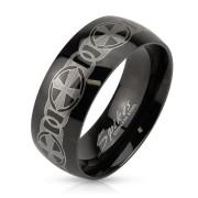 Pánsky oceľový prsteň Spikes 3898