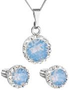 Set strieborných šperkov Swarovski elements 39352.7 Modrý opál