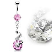 piercing pupku 9576-ROSE
