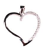 Strieborny prívesok srdce 302201