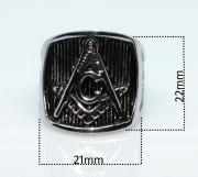Oceľový pečatný prsteň WJHZ43-Slobodomurári