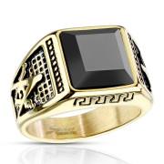 Oceľový prsteň pre mužov 7130 - Slobodomurári