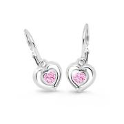 Detské zlate naušnice Cutie Jewellery C2752B Pink