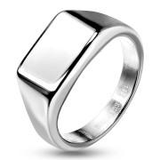 Pánsky oceľový pečatný prsteň 7685ST