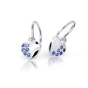 Zlaté detské náušnice Cutie Jewellery C2160B-Dark Blue