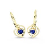 Detské zlate naušnice Cutie Jewellery C2752Z Blue dark
