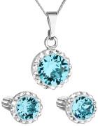 Set strieborných šperkov Swarovski elements 39352.3 Aqua