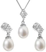 Súprava perlových strieborných šperkov 29018.1