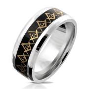 Oceľový pánsky prsteň 6038-Slobodomurári