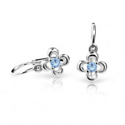 Naušnice pre babatko biele zlato Cutie Jewellery C2013B Arctic Blue